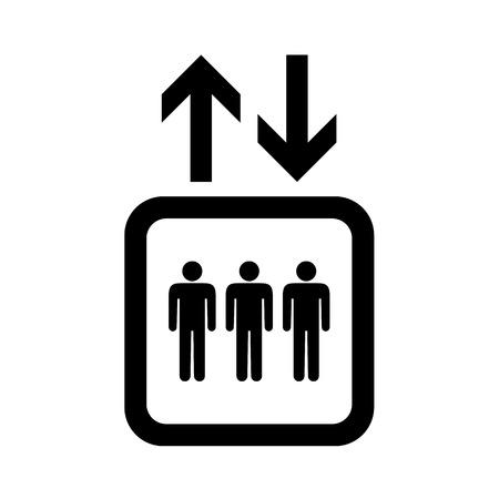 Lift or elevator symbol on white backgroundVector EPS10