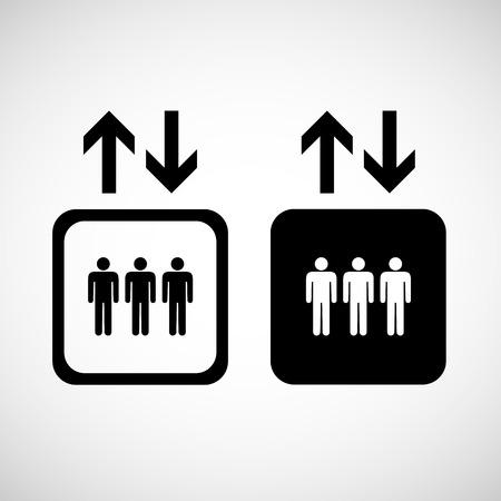 Lift oder Aufzug-Symbol auf weißem backgroundVector EPS10 Illustration