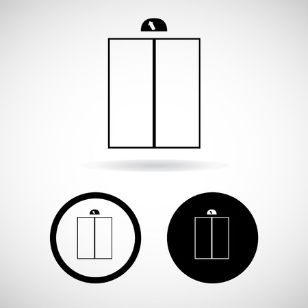 general warning: Lift or elevator symbol on white backgroundVector  Illustration