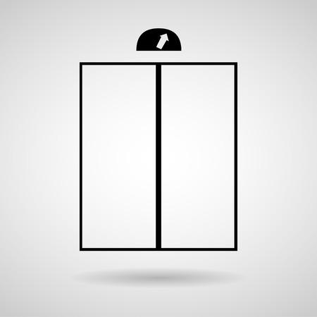 Lift or elevator symbol on white backgroundVector  Vector