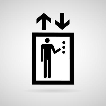 lift up: Lift or elevator symbol on white backgroundVector EPS10