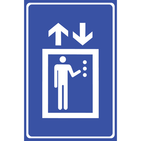general warning: Lift or elevator symbol on white backgroundVector EPS10