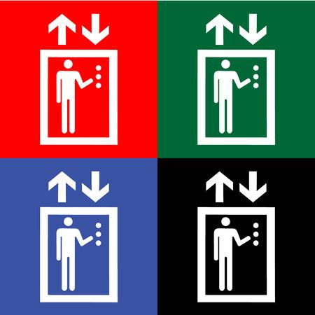 general warning: Lift or elevator symbol on white backgroundVector Illustration