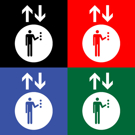 lift up: Lift or elevator symbol on white backgroundVector  Illustration