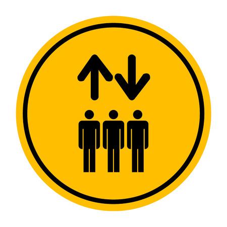 Lift or elevator symbol on white backgroundVector  Illustration