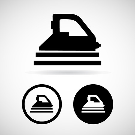 steam iron: Vector steam iron iconIllustration Illustration