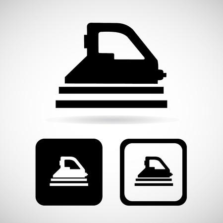 plancha de vapor: Vector plancha de vapor icono Ilustraci�n