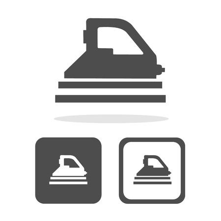 plancha de vapor: Vector plancha de vapor iconIllustration Vectores