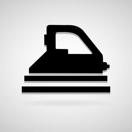 iconillustration: Vector steam iron iconIllustration Illustration