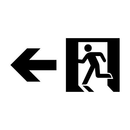 Vector nooduitgang teken op wit Illustratie EPS10