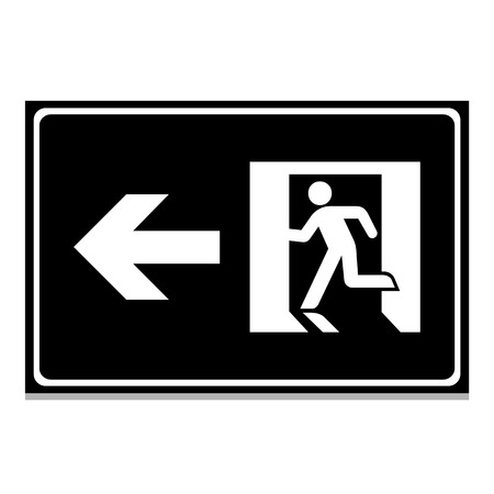 exit emergency sign: Vector emergency exit sign on white Illustration EPS10 Illustration