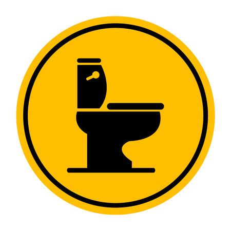 toilet symbol: Vector toilet symbol, Illustration  Illustration