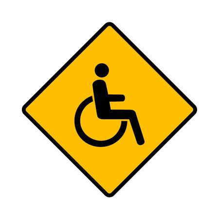 paralyze: Vector disabled handicap icon Illustration EPS10