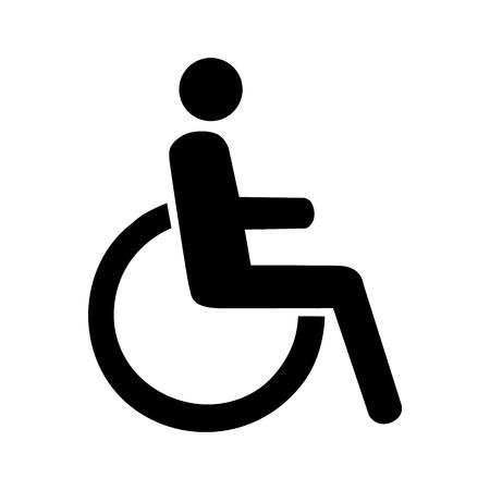 discapacitados: Vector icono ilustración inhabilidad lisiado EPS10 Vectores