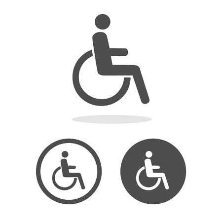 Vector gehandicapte handicap illustratie EPS10