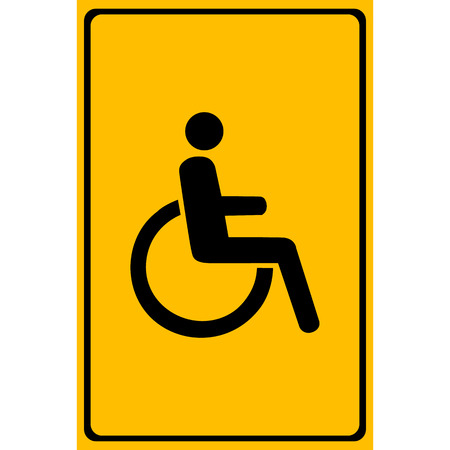 paralyze: Vector disabled handicap icon Illustration  Illustration