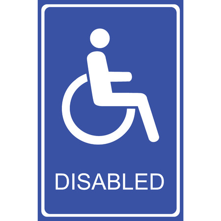 paralyze: Vector disabled handicap icon Illustration  Illustration