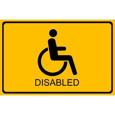 Vector disabled handicap icon Illustration EPS10