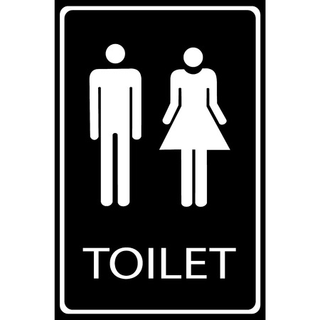 handicap sign: Vector Man and lady toilet sign Illustration  Illustration