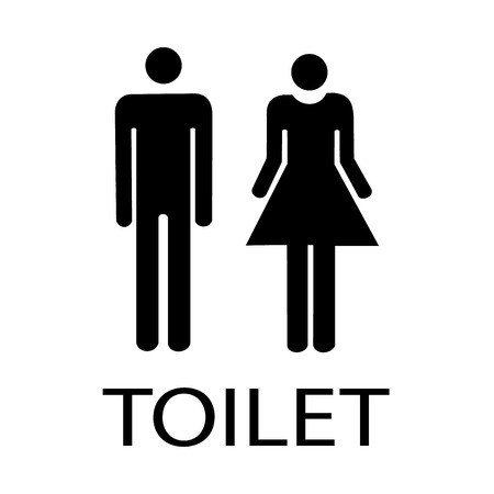 loo: Vector Man and lady toilet sign Illustration  Illustration