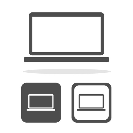 Vector laptop icon Illustration