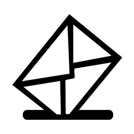 buzon: Buzón Vector icono ilustración EPS10