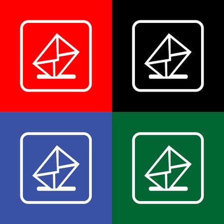 mailbox: Vector mailbox icon Illustration EPS10 Illustration