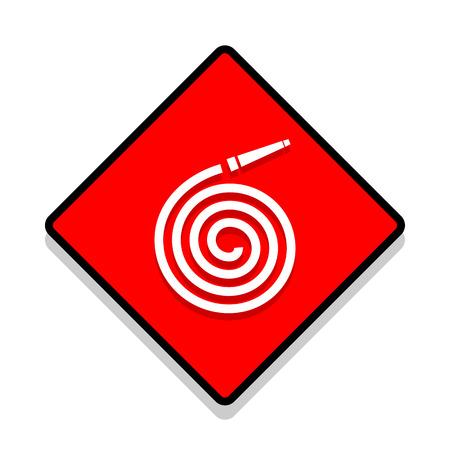 firealarm: ector fire station Fire hose reel icon. Illustration EPS10