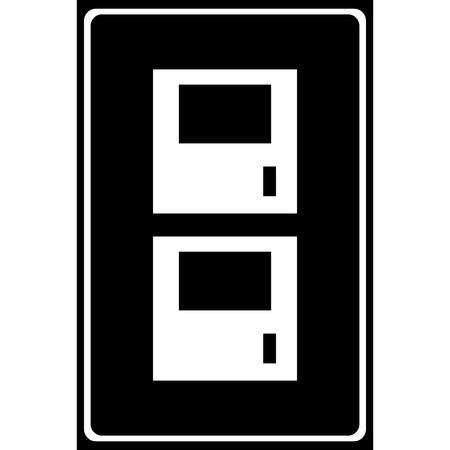 gym room: Vector locker icon Illustration EPS10