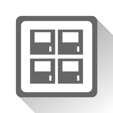 locker: Vector locker icon Illustration EPS10