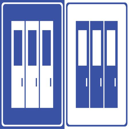 gym room: Vector casillero icono ilustraci�n EPS10 Vectores