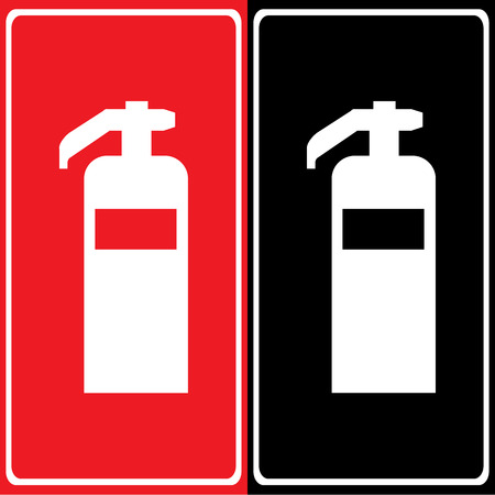 inflammable: Vector fire extinguisherIllustration EPS10