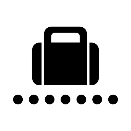 Vector Baggage Claim Public Information Sign Illustration EPS10
