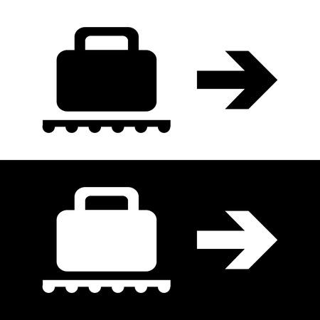 Vector Baggage Claim Public Information Sign Illustration EPS10 Vector
