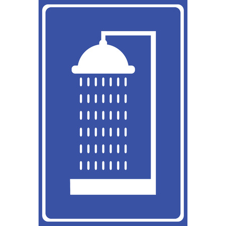 Vector Shower. Single flat icon Illustration EPS10 Vector