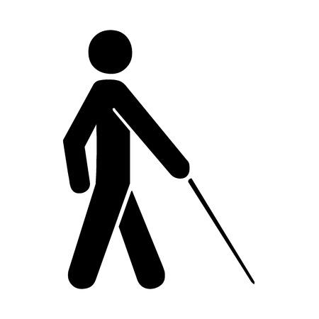 Vector blinden Symbol auf weißem Hintergrund Illustration EPS10