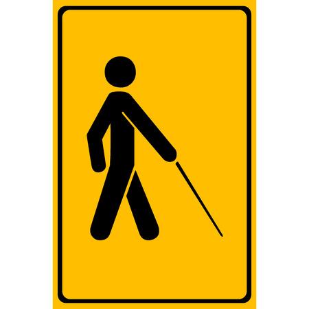 stick people: Vector blind symbol on white background  Illustration   Illustration
