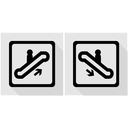 electronic guide: Vector escalator symbol and sign  Illustration