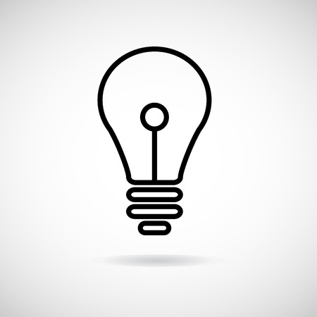 invent clever: Vector lamp icon and sign Illustration EPS10