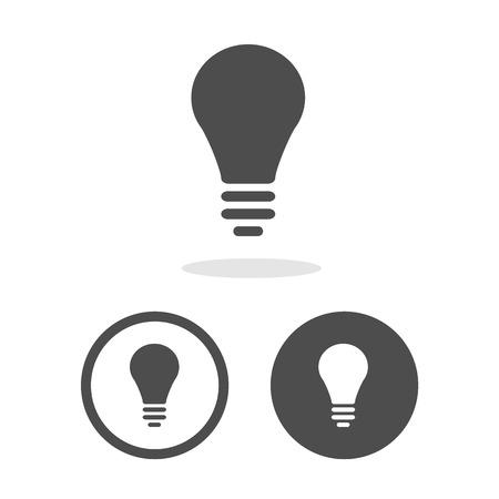 Vector lamp pictogram en teken Illustratie EPS10 Stock Illustratie
