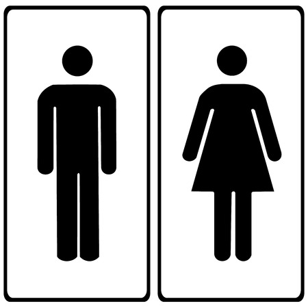 toilet sign: Vector a man and a lady toilet sign Illustration