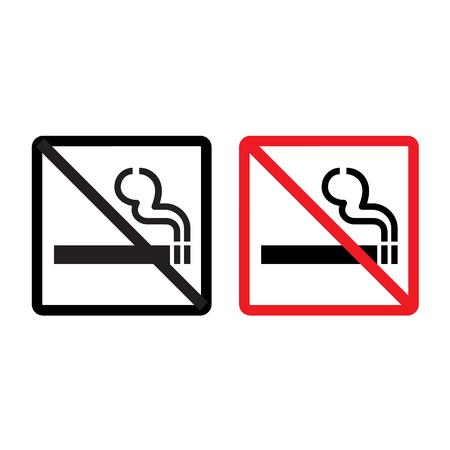 smoldering: Vettore nessun segno di fumare su sfondo bianco