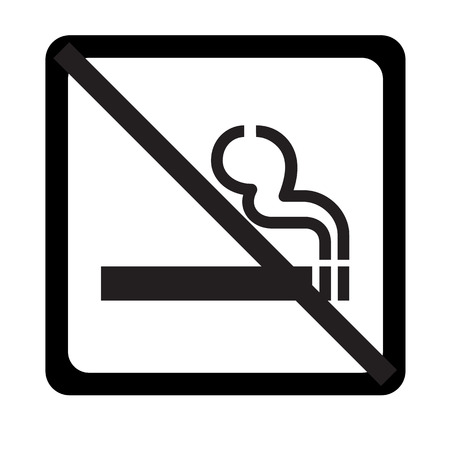 pernicious habit: Vector no smoking sign on white background   Illustration