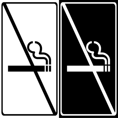 smoldering cigarette: Vector no smoking sign on white background   Illustration