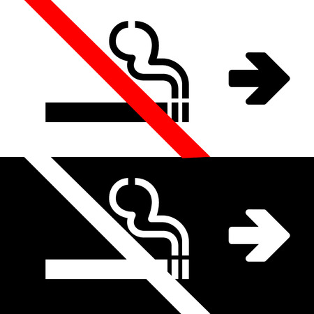 arrow poison: Vector no smoking sign on white background   Illustration