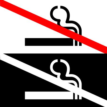 pernicious: Vector se�al de no fumar en el fondo blanco