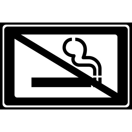 cigar label: Vector no smoking sign on white background   Illustration