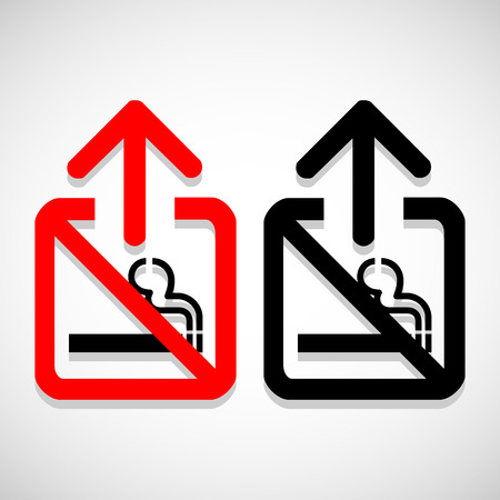 pernicious: Vector se�al de no fumar en el fondo gris
