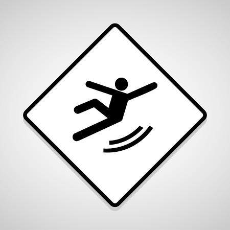 skid: Vector Wet Floor Warning Sign Illustration
