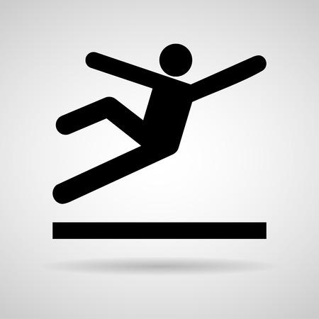 forewarn: Vector Wet Floor Warning Sign Illustration